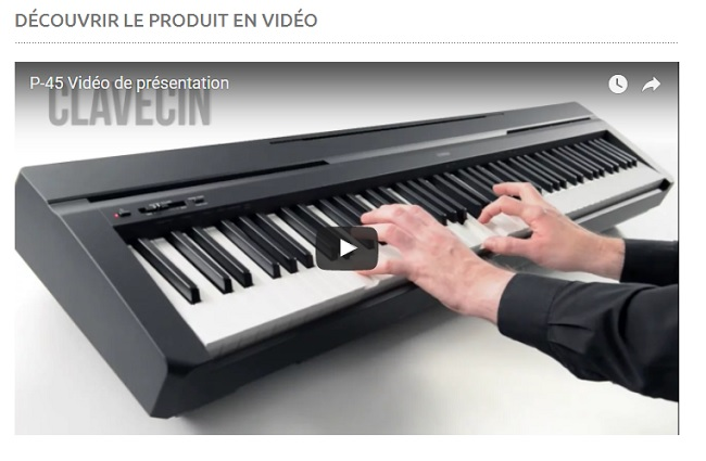 piano numérique Yamaha P45B