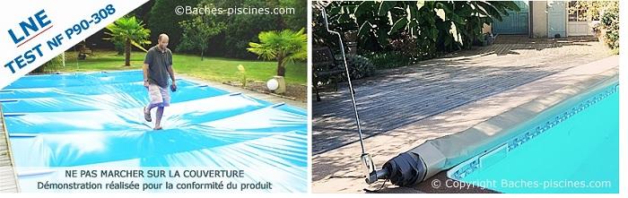 bache piscine enterrée sur mesure